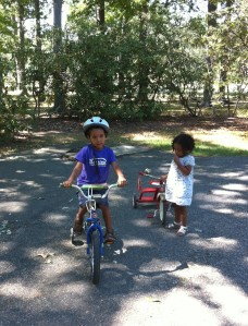 Riding Bikes in Park